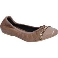 Pantofi Femei Balerin și Balerini cu curea Crown Pantofi De Balerină BX639 Bej