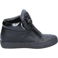 Pantofi Femei Botine Sara Lopez sneakers nero pelle BX704 Nero