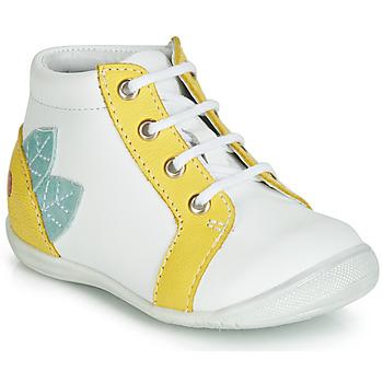 Pantofi Fete Pantofi sport stil gheata GBB FRANCKIE Alb / Galben