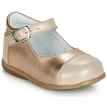 Pantofi Fete Balerin și Balerini cu curea GBB BELISTO Roz / Gold