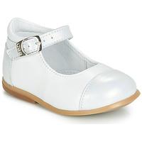 Pantofi Fete Balerin și Balerini cu curea GBB BELISTO Alb
