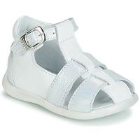 Încăltăminte Fete Sandale și Sandale cu talpă  joasă GBB GASTA Alb / Argintiu