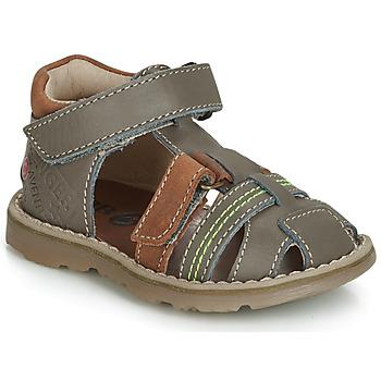 Pantofi Băieți Sandale și Sandale cu talpă  joasă GBB SEVILLOU Gri / Maro