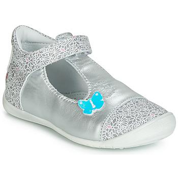 Pantofi Fete Balerin și Balerini cu curea GBB MERCA Argintiu