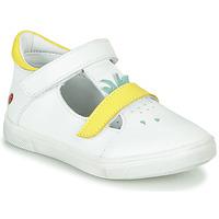 Pantofi Fete Balerin și Balerini cu curea GBB ARAMA Vte / Alb-galben / Dpf / Trilly