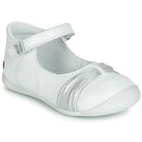 Pantofi Fete Balerin și Balerini cu curea GBB MALLA Alb