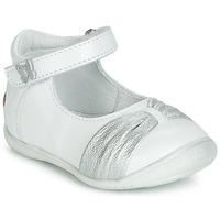 Pantofi Fete Balerin și Balerini cu curea GBB MALLA Alb / Argintiu