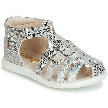 Pantofi Fete Sandale și Sandale cu talpă  joasă GBB PERLE Argintiu