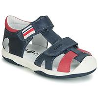 Pantofi Băieți Sandale  GBB BERTO Bleumarin / Roșu