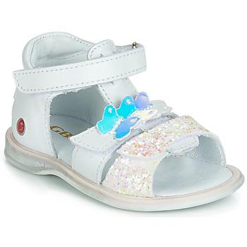 Pantofi Fete Sandale  GBB MESTI Alb / Argintiu