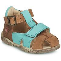 Încăltăminte Băieți Sandale și Sandale cu talpă  joasă GBB SEROLO Nub / Fawn-turcoaz / Dpf / Filou