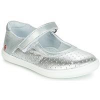 Pantofi Fete Balerin și Balerini cu curea GBB PLACIDA Argintiu