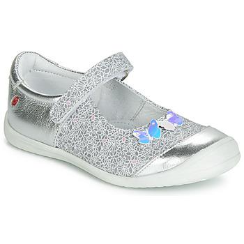 Pantofi Fete Balerin și Balerini cu curea GBB SACHIKO Argintiu