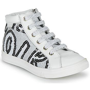 Pantofi Fete Pantofi sport stil gheata GBB MARTA Svt / Alb-paiete / Argintiu / Dpf / Dolby