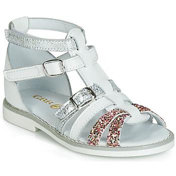 Pantofi Fete Sandale și Sandale cu talpă  joasă GBB MONELA Alb