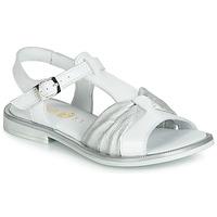 Pantofi Fete Sandale și Sandale cu talpă  joasă GBB MESSENA Alb / Argintiu
