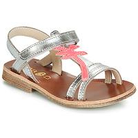 Încăltăminte Fete Sandale și Sandale cu talpă  joasă GBB SAPELA Vte / Argintiu-fluorescent / Dpf / Coca