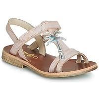 Pantofi Fete Sandale  GBB SAPELA Roz / Argintiu