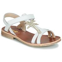 Pantofi Fete Sandale  GBB SAPELA Alb / Auriu