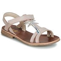 Pantofi Fete Sandale și Sandale cu talpă  joasă GBB SAPELA Roz / Argintiu