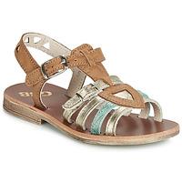 Încăltăminte Fete Sandale și Sandale cu talpă  joasă GBB FANNI Vtc / Maro-auriu / Dpf / Coca