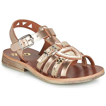 Încăltăminte Fete Sandale și Sandale cu talpă  joasă GBB FANNI Flc / Roz / Chair / Dpf / Coca