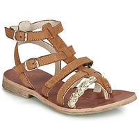 Pantofi Fete Sandale  GBB NOVARA Coniac / Auriu