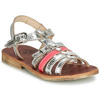 Pantofi Fete Sandale  GBB BANGKOK Argintiu / Roz