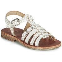 Pantofi Fete Sandale  GBB BANGKOK Bej / Alb