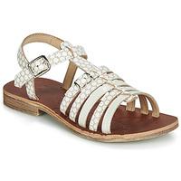 Pantofi Fete Sandale și Sandale cu talpă  joasă GBB BANGKOK Alb / Bej