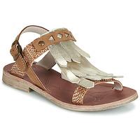 Pantofi Fete Sandale și Sandale cu talpă  joasă GBB ACARO Maro / Auriu