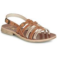 Pantofi Fete Sandale  Catimini NOBO Coniac / Auriu