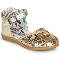 Pantofi Fete Balerin și Balerini cu curea Catimini NAYA Auriu