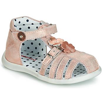 Pantofi Fete Sandale și Sandale cu talpă  joasă Catimini VANUA Roz / Gold
