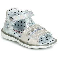 Pantofi Fete Sandale și Sandale cu talpă  joasă Catimini BIRA Argintiu / Bej