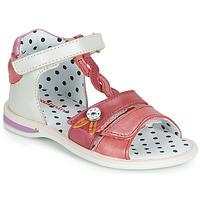 Pantofi Fete Sandale și Sandale cu talpă  joasă Catimini GOROKA Alb / Roșu