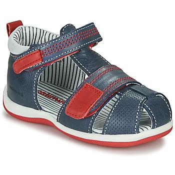 Pantofi Băieți Sandale  Catimini BALIMO Albastru / Roșu
