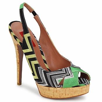 Pantofi Femei Sandale  Missoni RM71 Verde