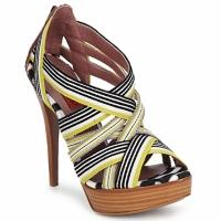 Încăltăminte Femei Sandale și Sandale cu talpă  joasă Missoni RM20 Galben / Alb