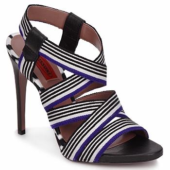 Încăltăminte Femei Sandale și Sandale cu talpă  joasă Missoni RM19 Albastru / Alb