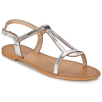 Încăltăminte Femei Sandale și Sandale cu talpă  joasă Les Tropéziennes par M Belarbi HAMAT Argintiu / șarpe