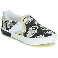 Pantofi Băieți Pantofi Slip on Catimini CAMAZO Alb / Negru