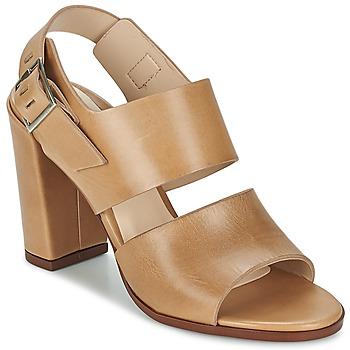 Pantofi Femei Sandale și Sandale cu talpă  joasă Dune London CUPPED BLOCK HEEL SANDAL Bej