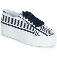 Pantofi Femei Pantofi sport Casual Superga 2790 COT MULTI STRIPE W Alb