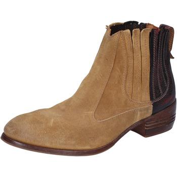 Pantofi Femei Botine Moma tronchetti beige camoscio bordeaux pelle BT18 Beige