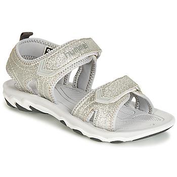 Pantofi Fete Sandale și Sandale cu talpă  joasă Hummel SANDAL GLITTER JR Argintiu