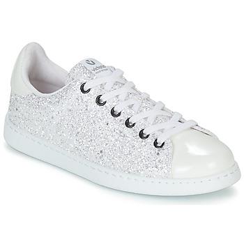 Încăltăminte Femei Pantofi sport Casual Victoria TENIS GLITTER Alb