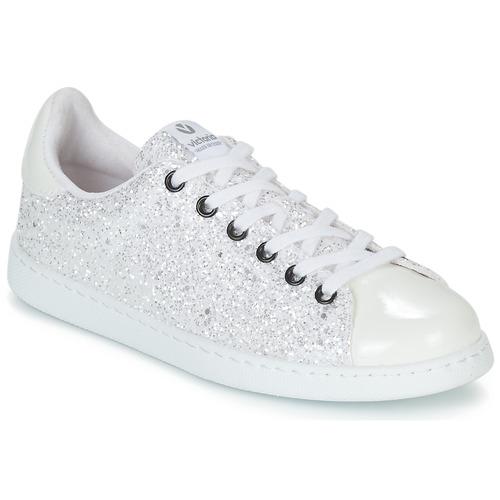 Pantofi Femei Pantofi sport Casual Victoria TENIS GLITTER Alb