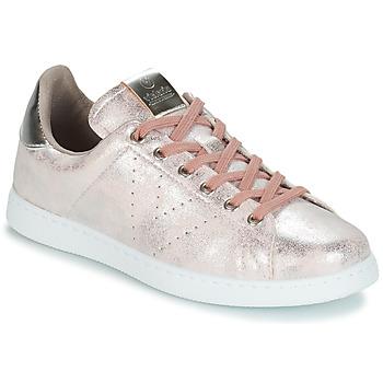 Pantofi Femei Pantofi sport Casual Victoria TENIS METALIZADO Roz