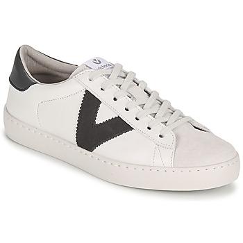 Încăltăminte Femei Pantofi sport Casual Victoria BERLIN PIEL CONTRASTE Alb / Gri